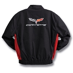 C3 C4 C5 C6 Corvette 1968-2013 Red / Black Twill Jacket