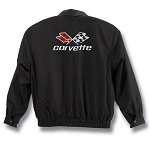 C3 C5 C6 Corvette 1968-2013 Black Twill Jacket