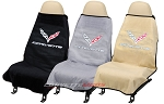 C7 Corvette 2014+ Stingray/Z06/Grand Sport Seat Armour Seat Cover Towels - Corvette Script