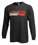 C3 C4 C5 C6 C7 Corvette 1968-2014+ Nash Long Sleeve T-Shirt - Corvette Script