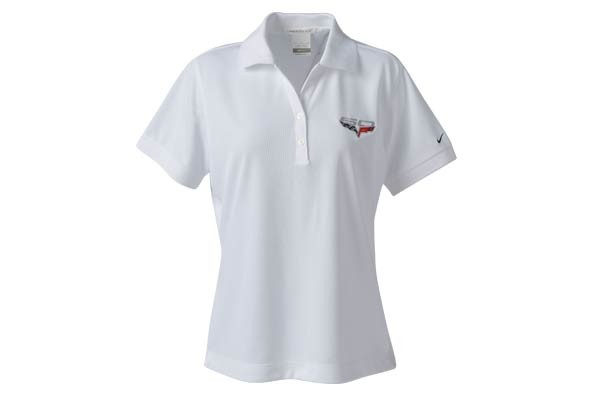 C6 Corvette 2005 2013 60th Anniversary Logo Nike Drifit Polo Shirt