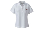 C6 Corvette 2005-2013 60th Anniversary Logo Nike DriFit Polo Shirt - Womens