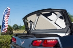 C7 Corvette 2014+ Stingray Polished Trunk Lid Plate Kit with Brushed Brace
