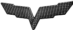 C6 Corvette 2005-2013 Hydro Carbon Fiber Crossed Flags Emblem