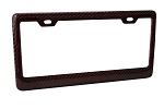 C3 C4 C5 C6 C7 Corvette 1968-2014+ Red Carbon Fiber License Plate Frame