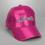 C2 C3 C4 C5 C6 C7 Corvette 1963-2014+ Ladies Sequin Cap