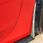 C6 Corvette 2005-2013 ZR1 Style Carbon Fiber Rear Mud Flaps