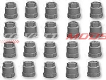 C4 Corvette 1986-1990 Gray Factory Style Plastic Lug Nut Caps