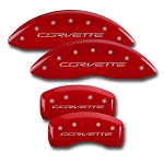 C7 Corvette Stingray/Z51 2014+ Brake Caliper Cover 4 Piece Set w/ Corvette Script - Color Selection