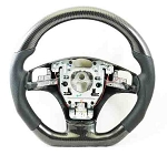 C6 Corvette 2006-2013 Real Carbon Fiber D Shape Steering Wheel - Gloss Coated
