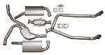 C3 Corvette 1981 Exhaust System - All W/Converter 81 Early