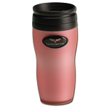 C6 Corvette 2005-2013 Crossed Flags Soft Touch Mug - Pink