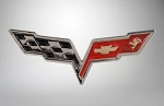 C6 Corvette 2005-2013 Lapel Pins - Crossed Flags / 60th / C6 Owner