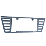 C7 Corvette Stingray 2014+ Chrome Angled Louvers License Plate Frame - With Stingray Etching