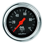 Autometer 2-1/6 inch Oil Pressure 0-100 PSI - Chrome
