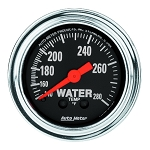 Autometer 2-1/6 inch Water Temperature 140-280F - Chrome