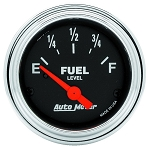C3 C4 C5 C6 C7 Corvette 1968-2014+ Autometer 2-1/16 inch Fuel Level 240-33 AMP SSE - Chrome