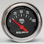 C3 C4 C5 C6 C7 Corvette 1968-2014+ Autometer 2-1/16 inch Oil Pressure 0-100 PSI - Chrome
