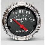 C3 C4 C5 C6 C7 Corvette 1968-2014+ Autometer 2-1/16 inch Water Temperature 100-250F - Chrome