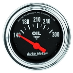 C3 C4 C5 C6 C7 Corvette 1968-2014+ Autometer 2-1/16 inch Oil Temperature 140-300F - Chrome