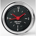 C3 C4 C5 C6 C7 Corvette 1968-2014+ Autometer 2-1/16 inch 12 Hour Clock  - Chrome