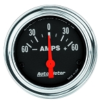 Autometer 2-1/16 inch Ammeter 60-0-60 AMPS - Chrome