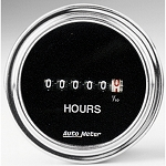 C3 C4 C5 C6 C7 Corvette 1968-2014+ Autometer 2-1/16 inch Hourmeter - Chrome