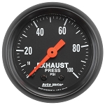 Autometer 2-1/16 inch Exhaust Pressure 0-100 PSI