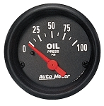 Autometer 2-1/16 inch Oil Pressure 0-100 PSI Z-Series
