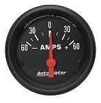 Autometer 2-1/16 inch Ammeter Gauge 60-0-60 AMPS