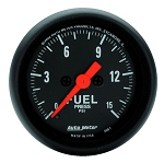 Autometer 2-1/16 inch Fuel Pressure 0-15 PSI Z- Series