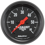 Autometer 2-1/16 inch Exhaust Pressure 0-60 PSI Z-Series