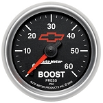Autometer 2-1/16 inch Boost Gauge 0-60 PSI - GM Black