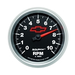 Autometer 3-3/8 inch In Dash Tachometer 0-10000 RPM - GM Black w/ Bowtie Logo