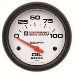 C3 C4 C5 C6 C7 Corvette 1968-2014+ Autometer 2-5/8 inch Oil Pressure 0-100 PSI - GM White