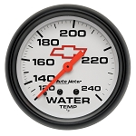 Autometer 2-5/8 inch Water Temperature Gauge 120-240F - GM White w// Bowtie Logo