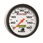 Autometer 5 inch Speedometer 0-160 MPH - GM White