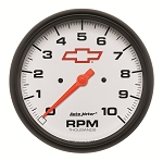 C3 C4 C5 C6 C7 Corvette 1968-2014+ Autometer 5 inch In-Dash Tachometer 0-10000 RPM - GM White