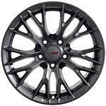 C7 Corvette Gunmetal OEM Style Z06 Wheels - Fitment For C6 2005-2013 18x8.5 / 19x10