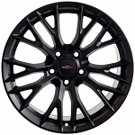 C7 Corvette Matte Black OEM Style Z06 Wheels - Fitment For C6 2005-2013 18x8.5 / 19x10