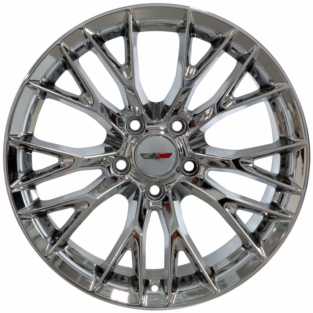 C7 Corvette Chrome Oem Style Z06 Wheels Fitment For C6