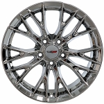 C7 Corvette Chrome OEM Style Z06 Wheels - Fitment For C6 Z06/Grand Sport 18x9.5 / 19x12