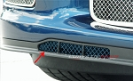 C6 Corvette Z06 / Grand Sport 2006-2013 Custom Painted Air Dam Grilles Laser Mesh