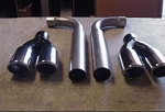C4 Corvette 1984-1996 Allens Non-Chambered / Chambered Muffler Eliminators - Dual Tip Size Selection