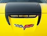 C6 Corvette Z06 / Grand Sport / ZR1 2006-2013 Perforated Hood Vent Grille - Custom Paint Options
