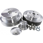 C4 Corvette 1984-1991 Power & AMP Polished Aluminum Pulley System