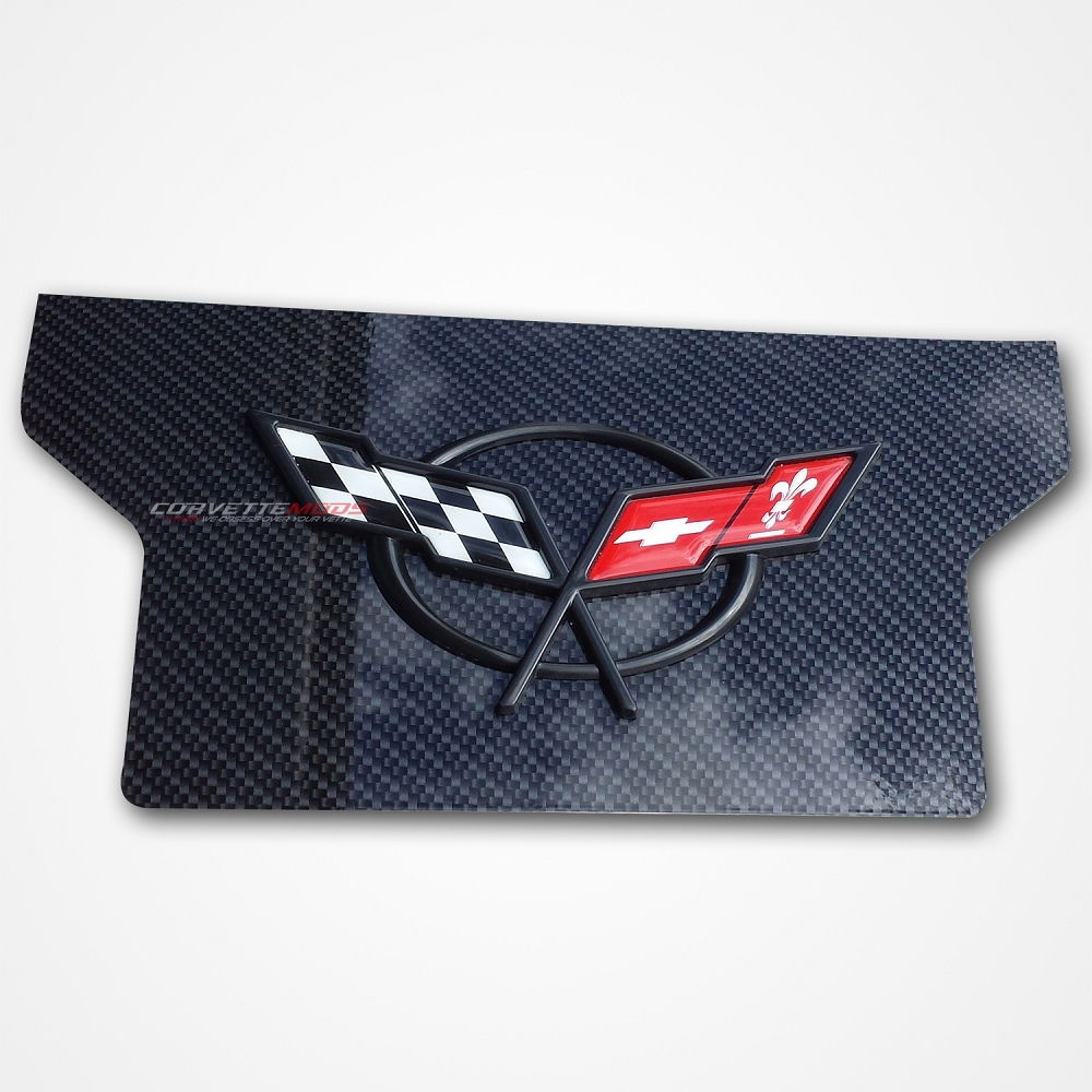Corvette Carbon Fiber Products C6 Painted Fuse Box Cover C5 1997 2004 Hydro Exhaust Enhancement Plate W Emblem