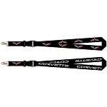 C6 Corvette 2005-2013 Sublimated Cross Flag Emblem Lanyard