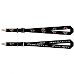 C5 Corvette 1997-2004 Sublimated Cross Flag Emblem Lanyard