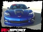 C6 Corvette 2005-2013 RK Sport Ram Air Hood - Carbon Fiber Center Options
